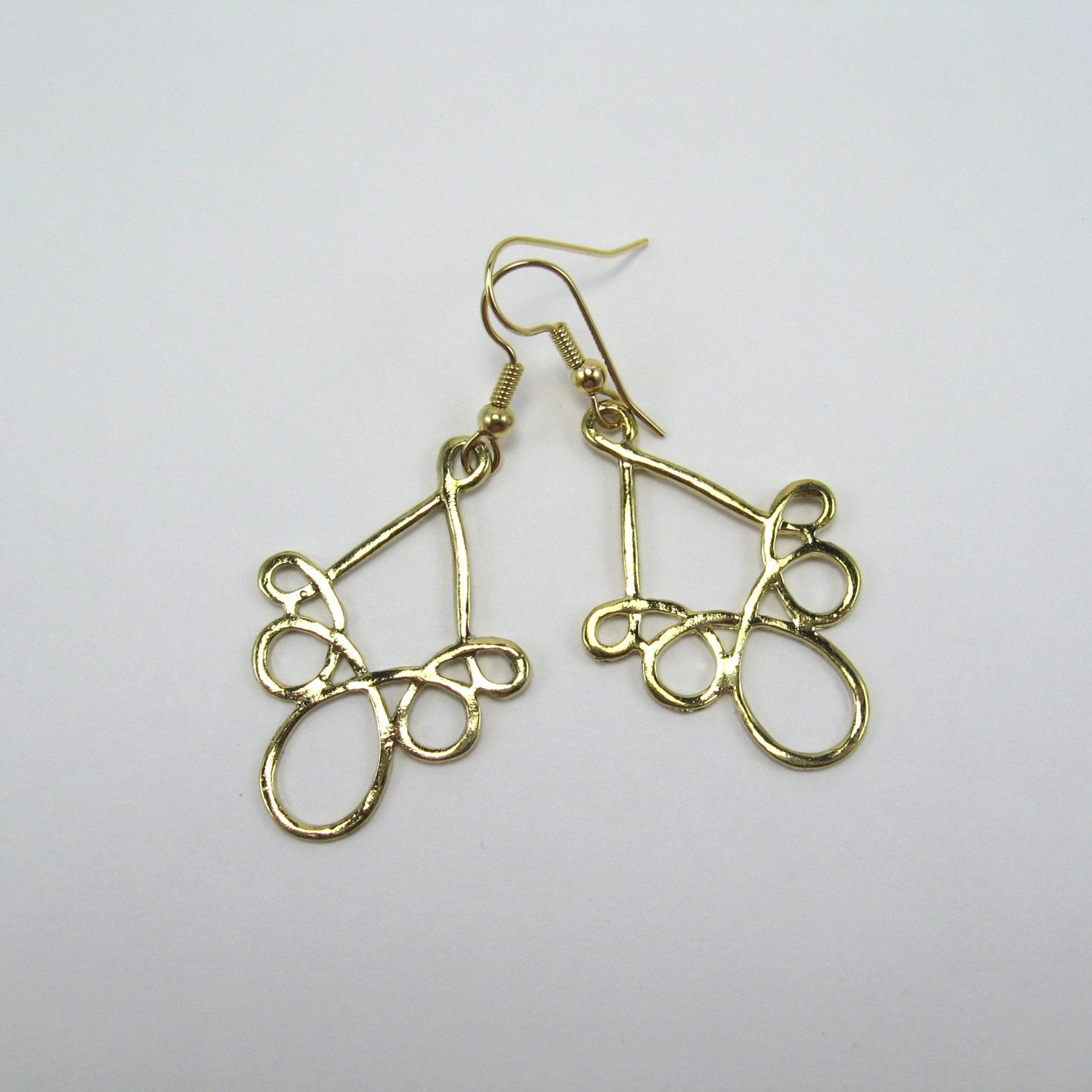Gold Dangle Surgical Steel Earrings Nickel Free For Sensitive Ears Unique