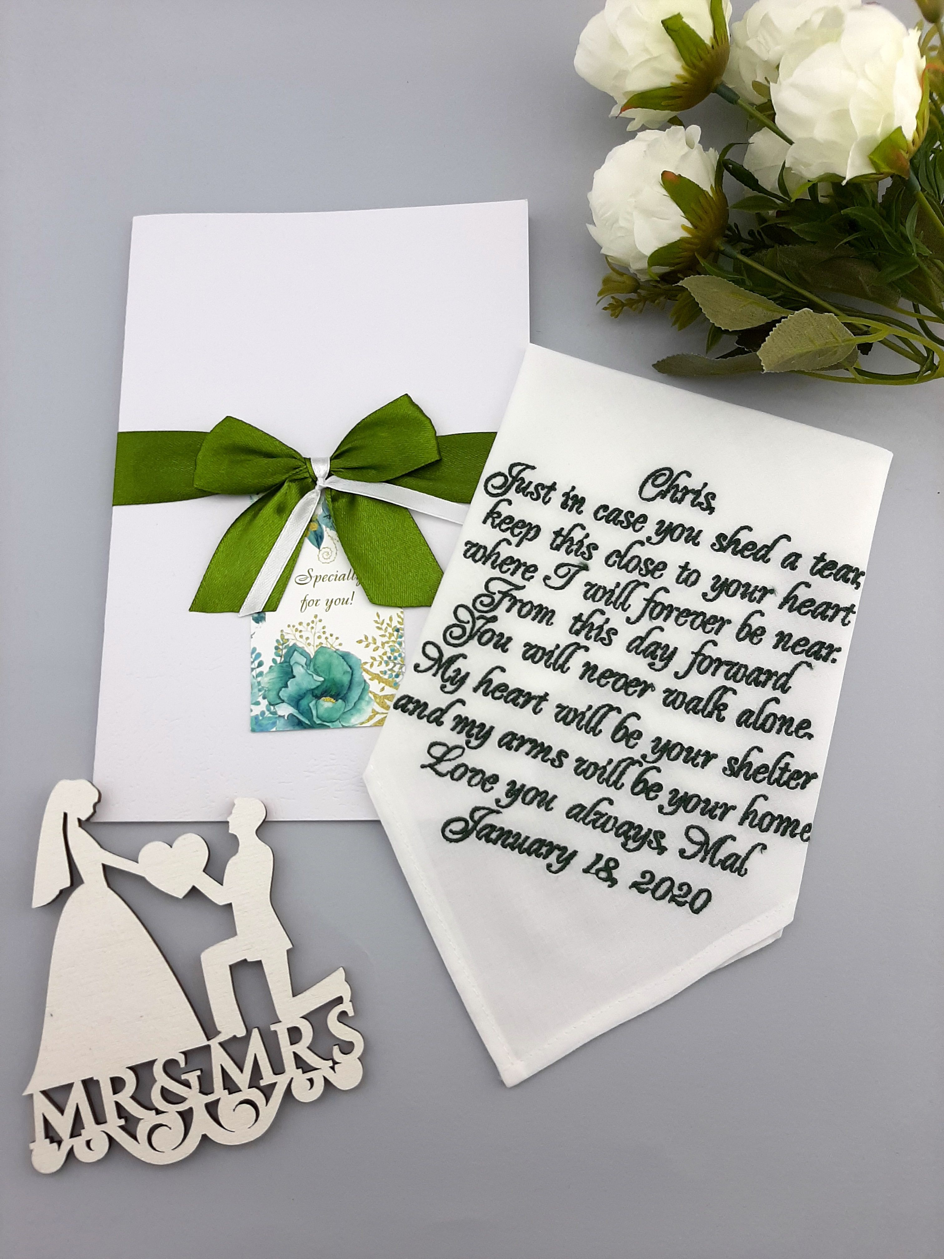 Groom Gifts From Bride Grooms Gift Handkerchief Wedding Gift Etsy In 2020 Wedding Gifts For Groom Handkerchief Wedding Gift Bride And Groom Gifts