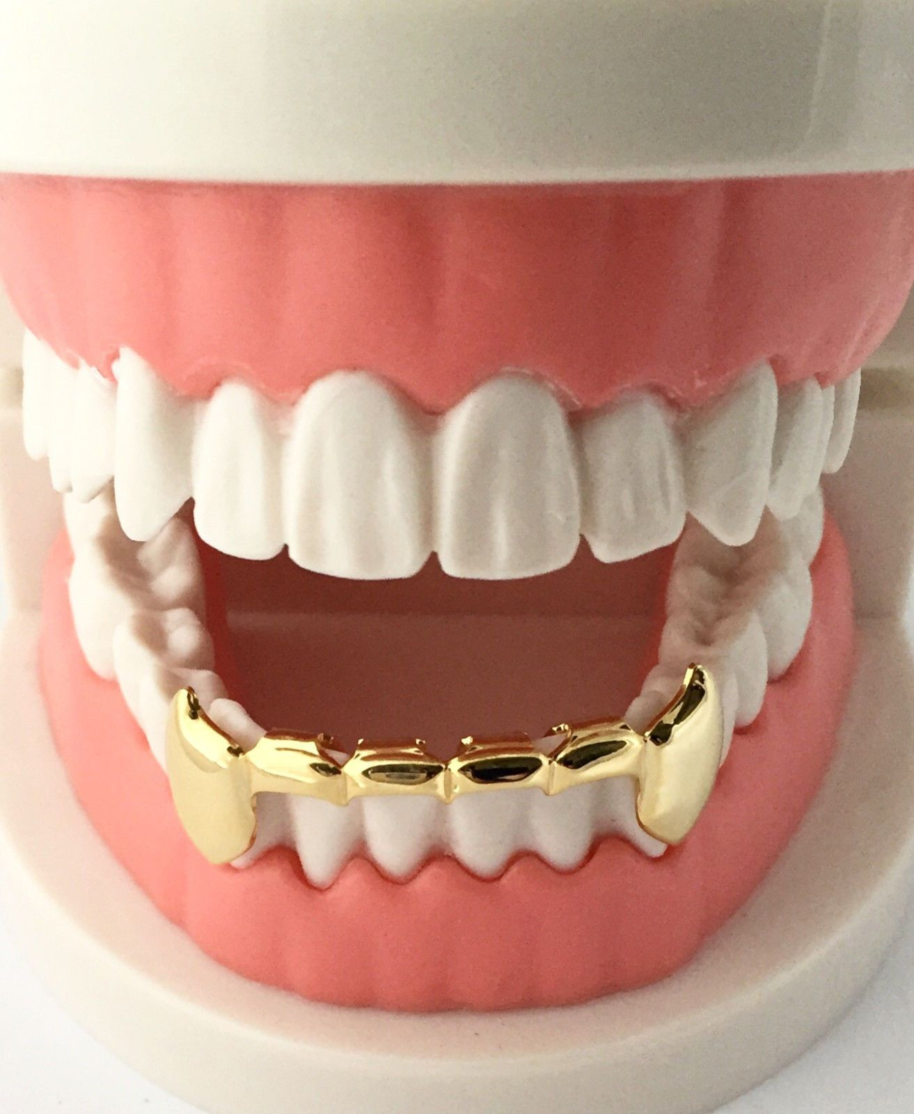 Details about custom 14k gold gp teeth mouth grillz bottom