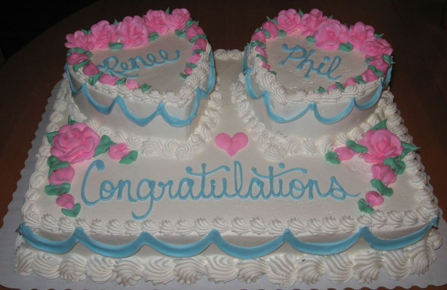 Hearts On A 1 2 Sheet Bridal Shower Wedding Shower Cakes Bridal Shower Cakes Wedding Sheet Cakes
