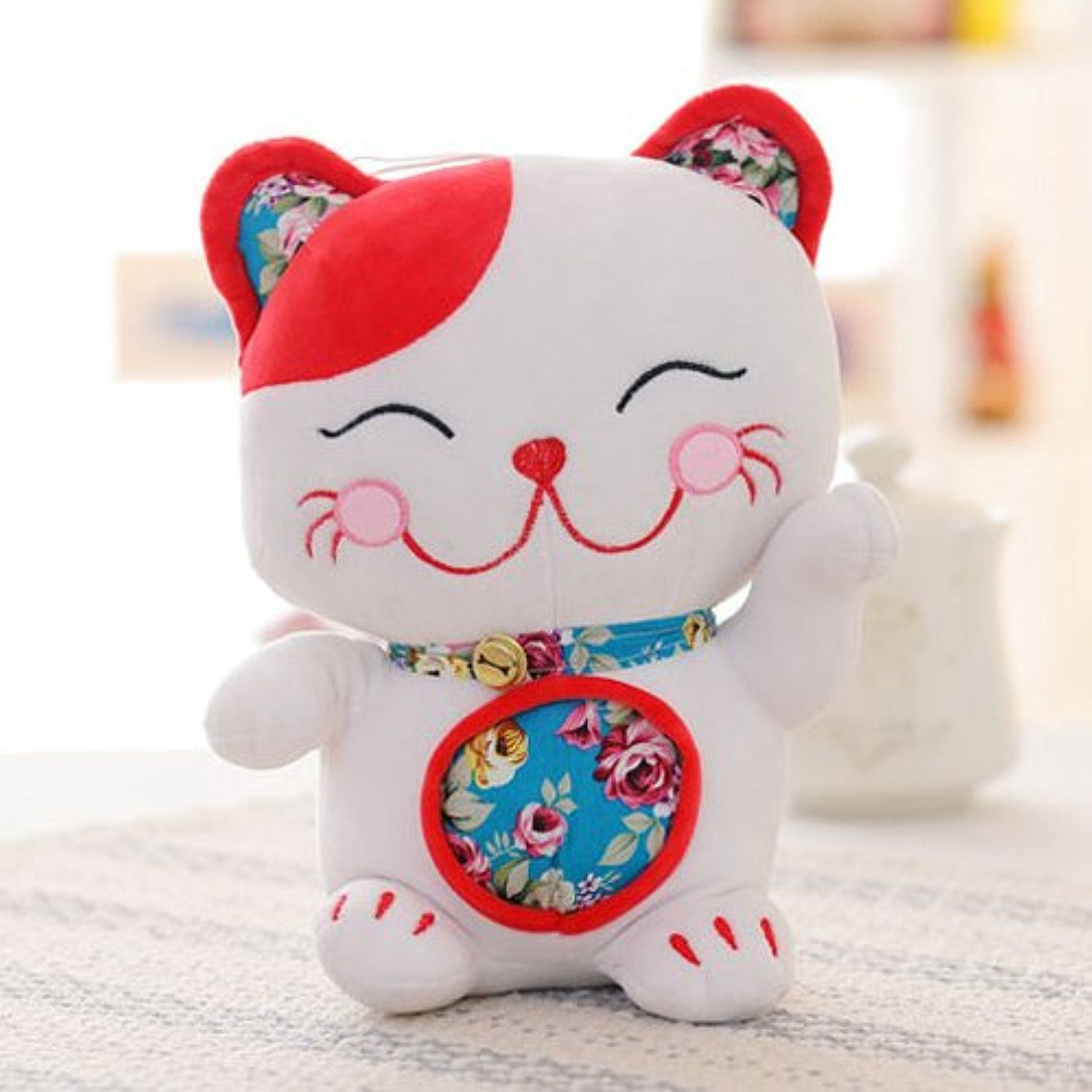 Smily Lucky Cat Stuffed Animal Toy Soft Cat Toy Christmas Gift 15 7