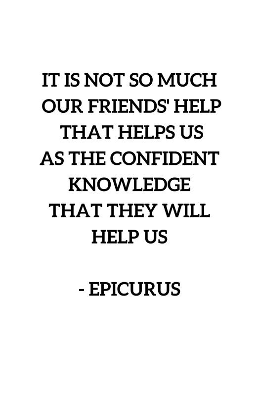 EPICURUS QUOTE Stoic Wisdom On Friendship' Framed Print By Classy Philosophical Quotes About Friendship