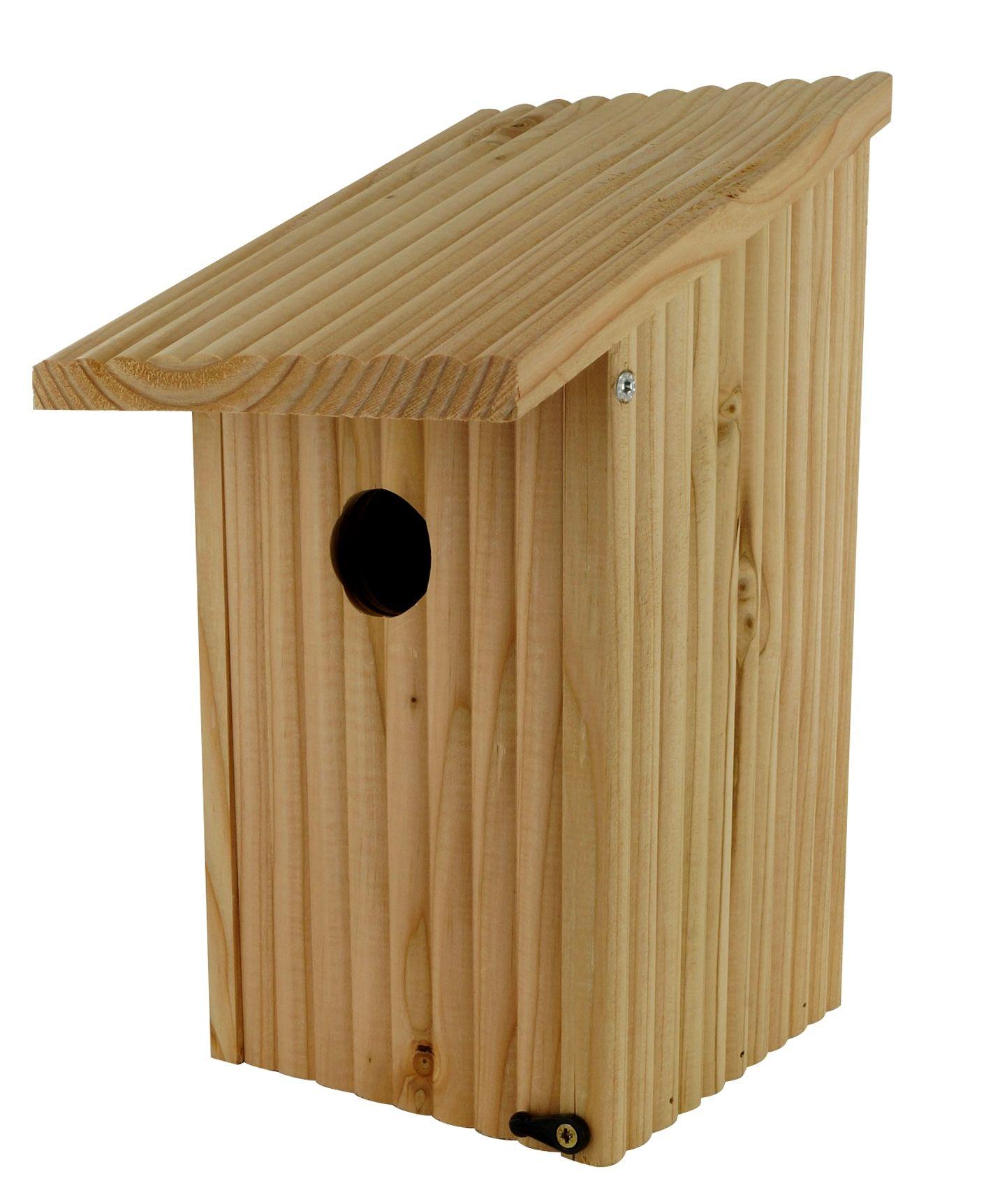 Nido per Cinciallegra in legno naturale puoi vederlo su floradecor.it  in Nidi + Casette per uccelli #birdhouses #birdgarden #nestboxes #wildlifegarden