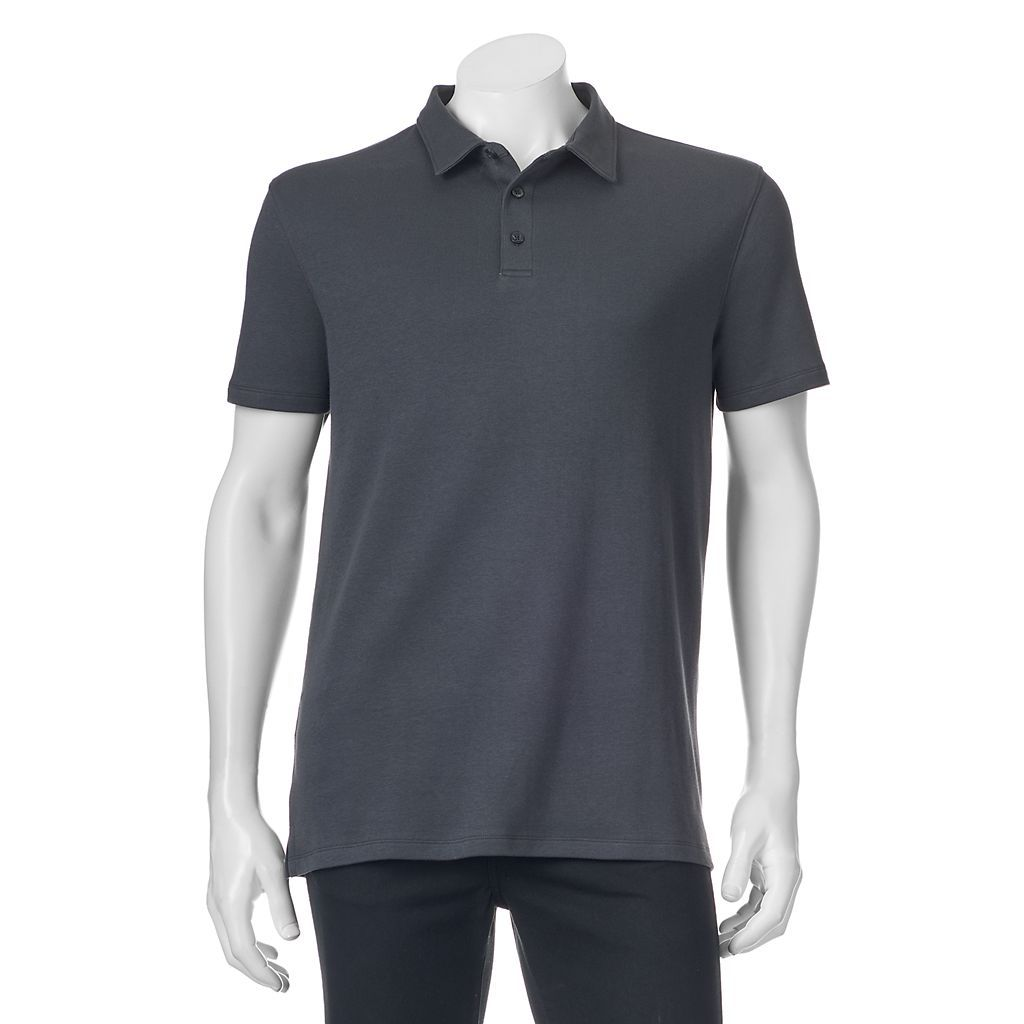 Apt 9 Mens Big /& Tall Solid Modern-Fit Polo