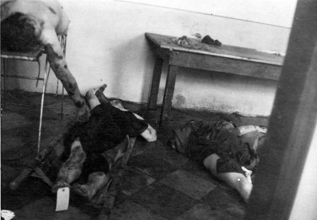 Kielce, Poland, Bodies at the site of a pogrom in 1946 ... Pictures Of Pogroms In Poland