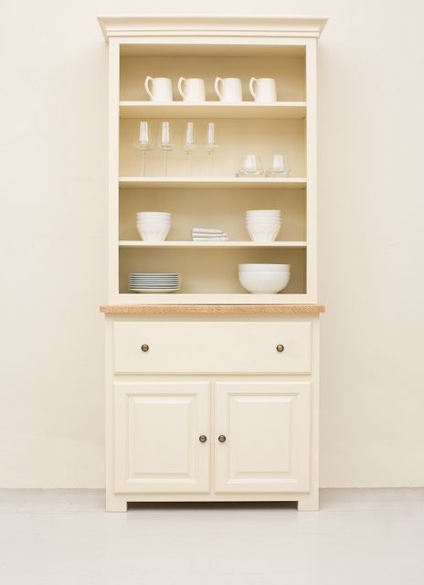 White Kitchen Dresser 011 studio 90cm open dresser one drawer two door | kitchen ideas