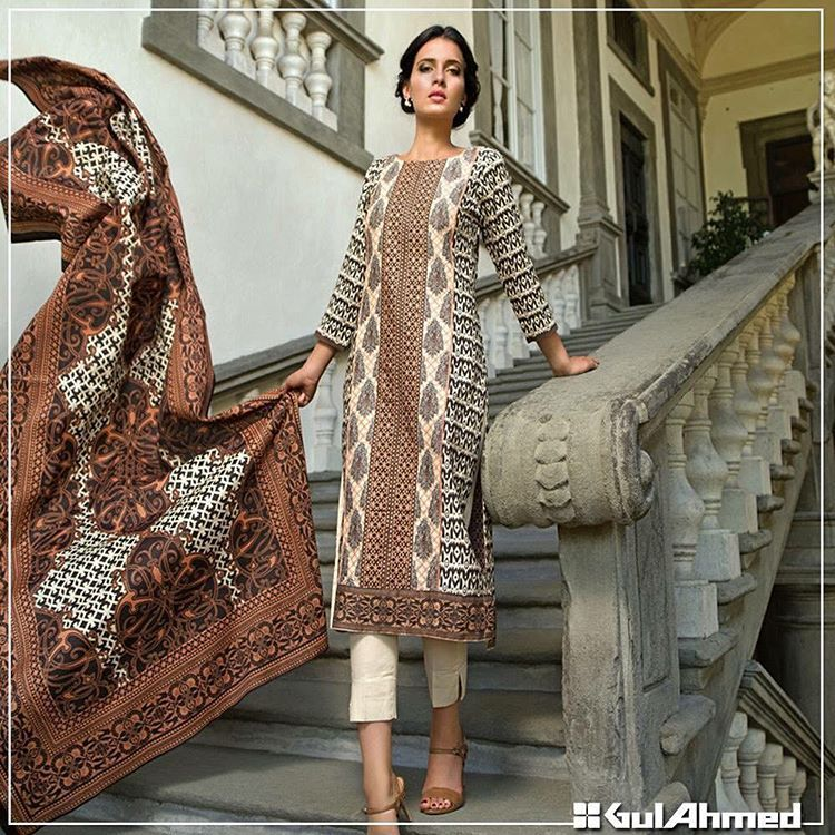 Gul Ahmad Corduroy collection from the winter collection 2015