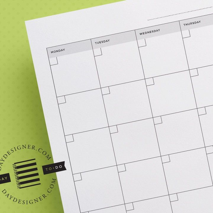 Monthly Calendar View Day Designer Daily Planner Pages Printable Planner Monthly Calendar Printable