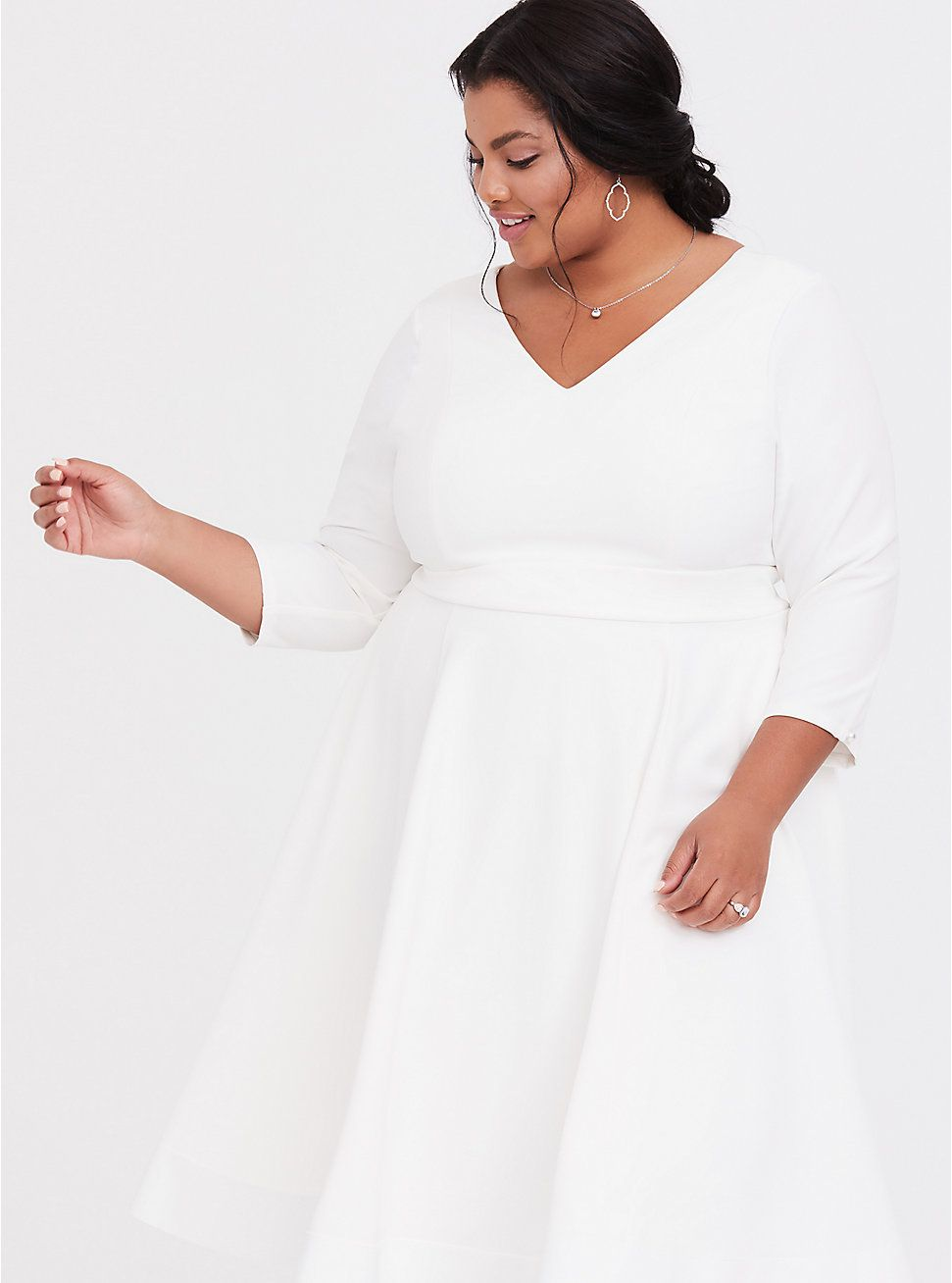 Special Occasion Ivory Fit Flare Dress In 2020 Dresses Flare Dress Fit Flare Dress [ 1308 x 971 Pixel ]