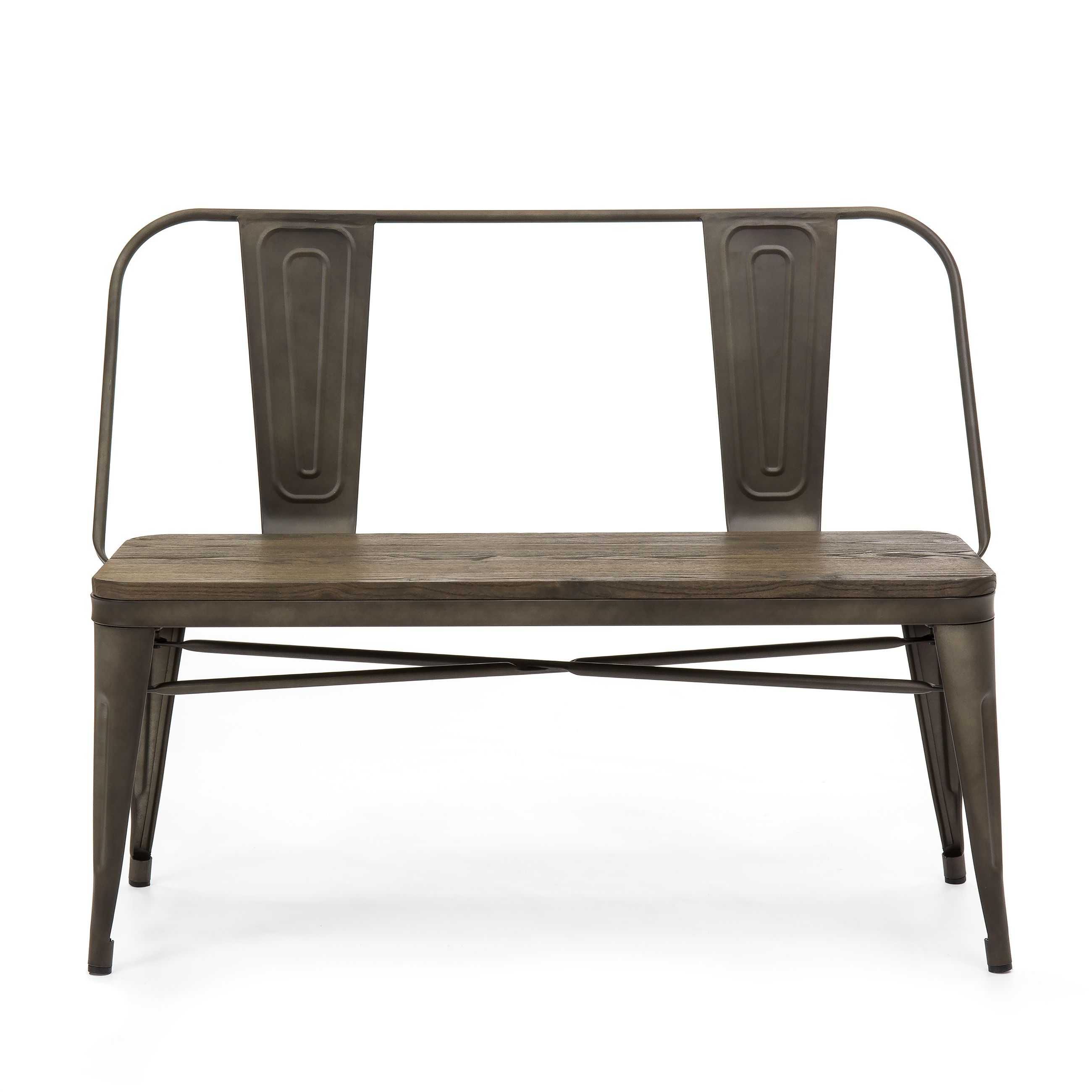 Best choice products 42in industrial metal rustic