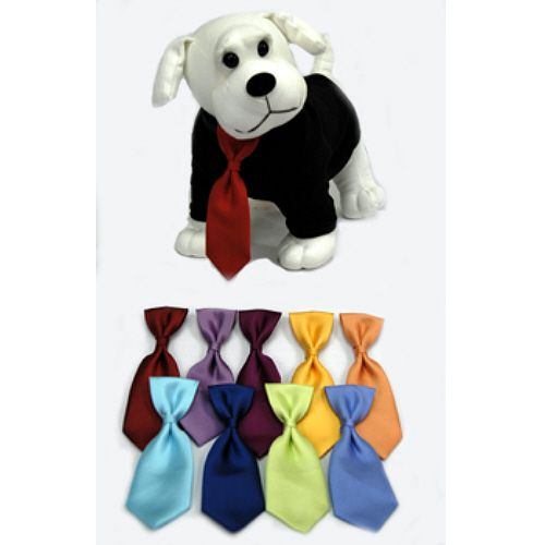 Solid Silk Loop Dog Neck Ties | Neiman Barkus Couture - Tiny thru Large Dog Sizes.  Made in the USA.  Order Yours Today!