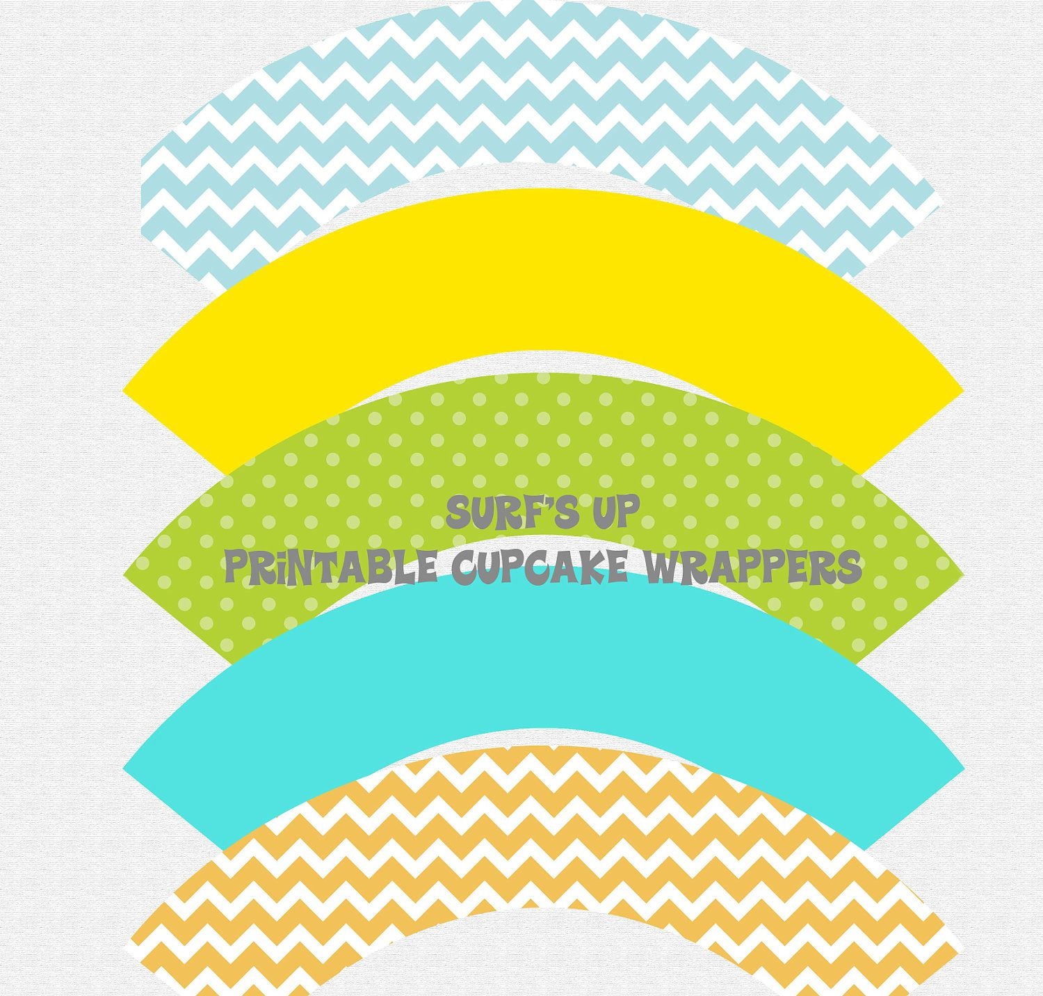 SURF'S UP -- Surf . Swim . Beach . Pool . Cupcake Wrappers for Birthday or Baby Shower -- Printable by TangerinePaperie on Etsy https://www.etsy.com/listing/104708500/surfs-up-surf-swim-beach-pool-cupcake