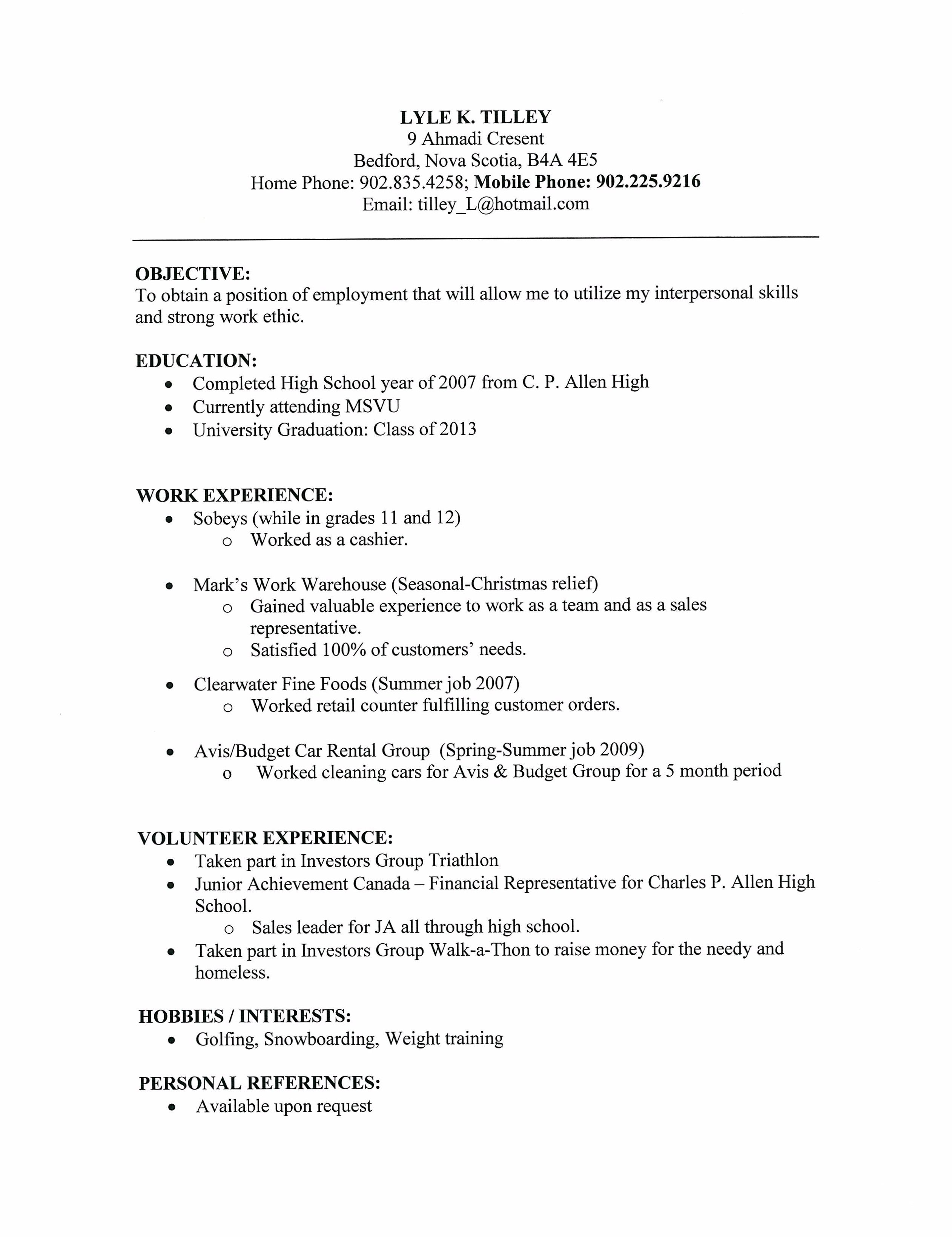 Resume Amp Cover Letter Lyle Tilley Template Http Webdesign Format