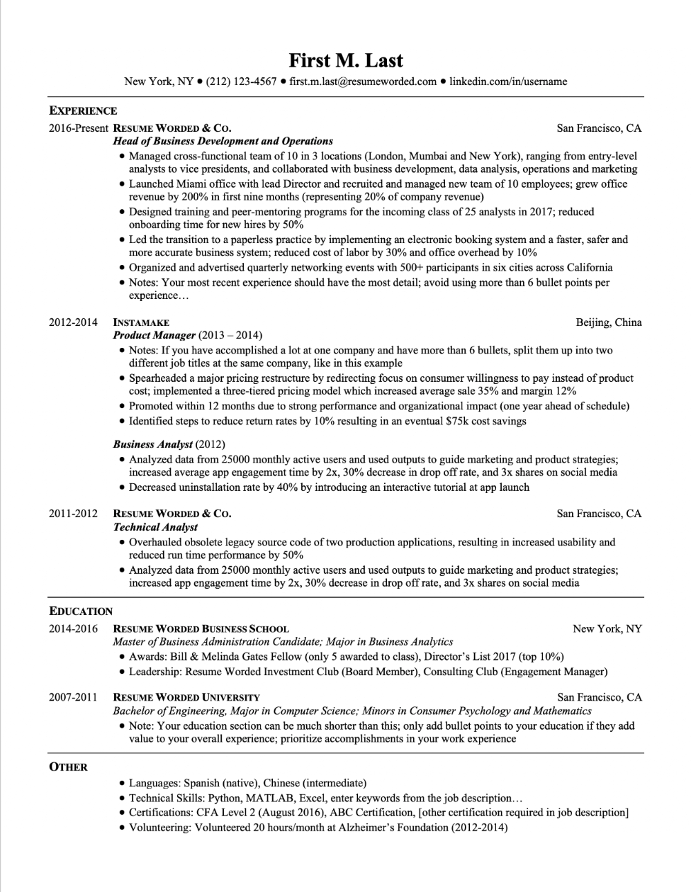Professional Ats Resume Templates For Experienced Hires And College Students Or Grads For Free Updated For 2020 Resume Template Resume Words Resume Templates