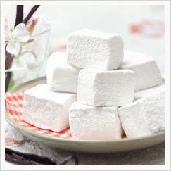 Vegan marshmallow recipe. The website has several brands of marshmallows to buy and an opensource recipe.