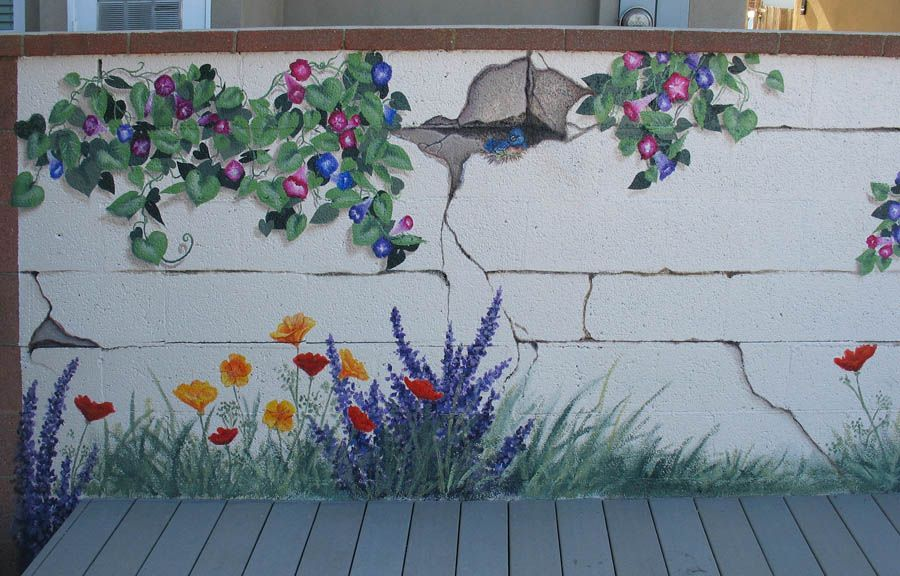 Exterior wall murals residential and commercial murals for Exterior wall mural