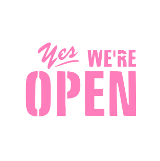 Yes We Re Open Cookie Stencil Shopping Quotes Business Quotes Open Quotes