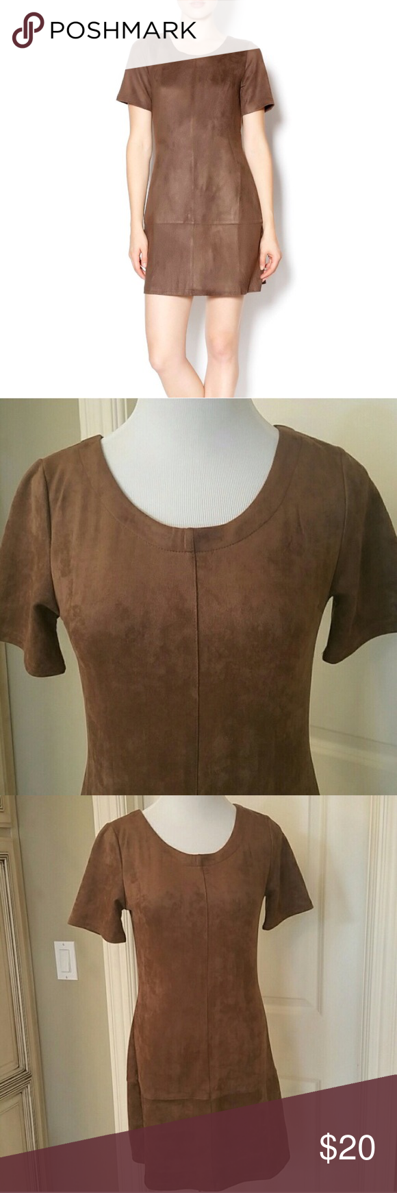 Brown suede dress Cute brown suede-like mini dress. Very soft material. Dress zips up the back. Purchased at Nordstrom. Not Zara brand. Great preloved condition. No stains or snags. Size S. Zara Dresses