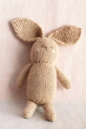Bunny Rabbit Knitting Patterns Knitting Pinterest Knitting