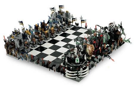 Attrayant AWESOME Lego Castle Chess Set! It Would Be A Dream To Own This! Orc Army  Versus Dwarves And Knights   Intricate Designs, Rare Pieces, Cool Look.