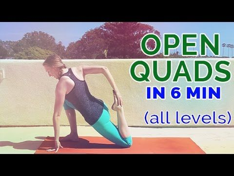 quad stretch yoga poses to open your quads in 6 minutes