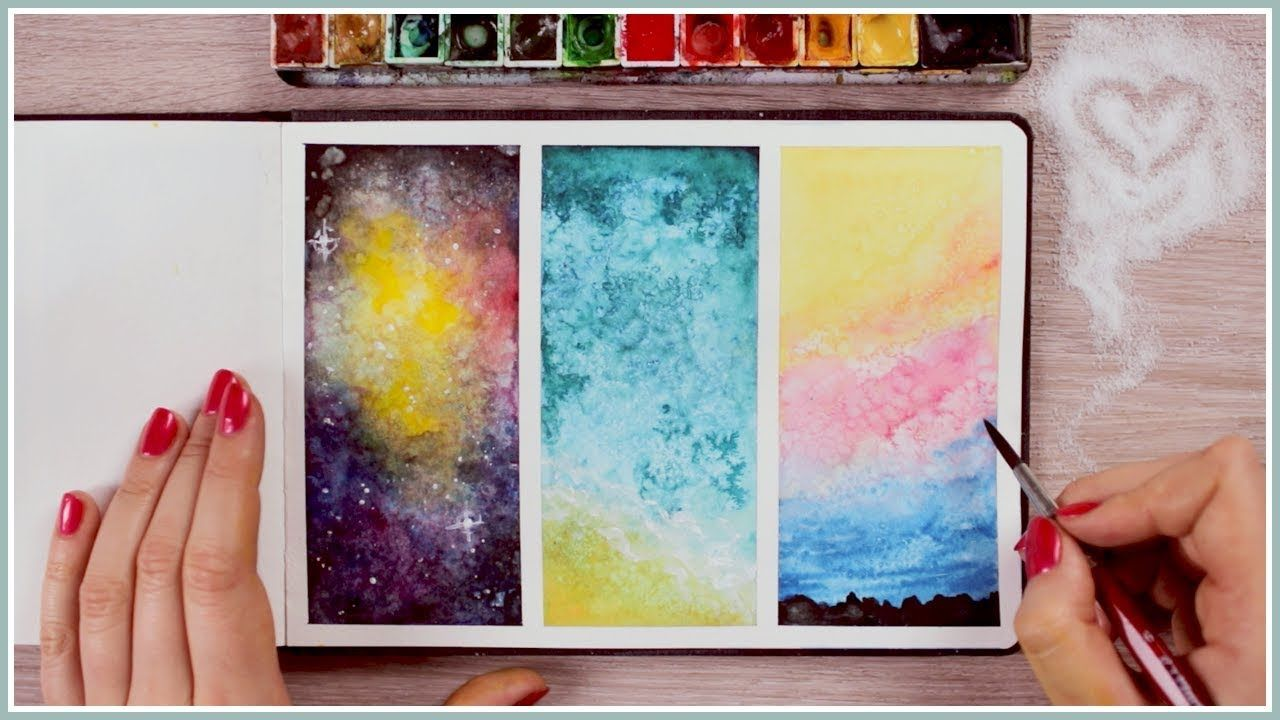 Idea For Positive Negative Space Lesson With Watercolor Paint