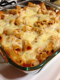 Creamy Pesto and Marinara Baked Ziti | The Blonde Can Cook