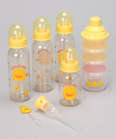 Take a look at this Bottle Gift Set by Piyo Piyo on #zulily today!