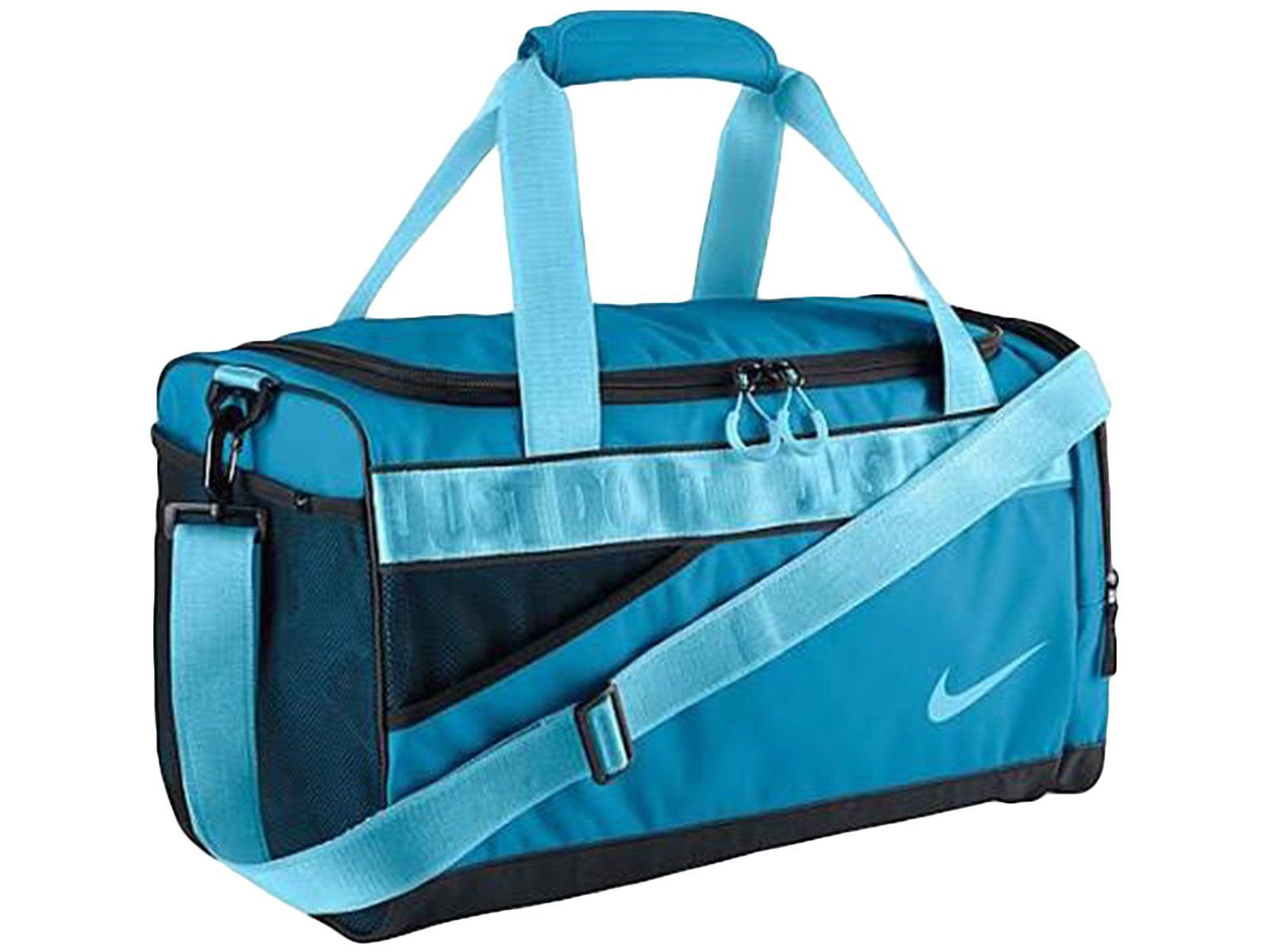 d558b9baa257 Amazon.com  Nike Varsity 2.0 Duffel Gym Bag in Blue and Black for Women and  Girls  Sports   Outdoors