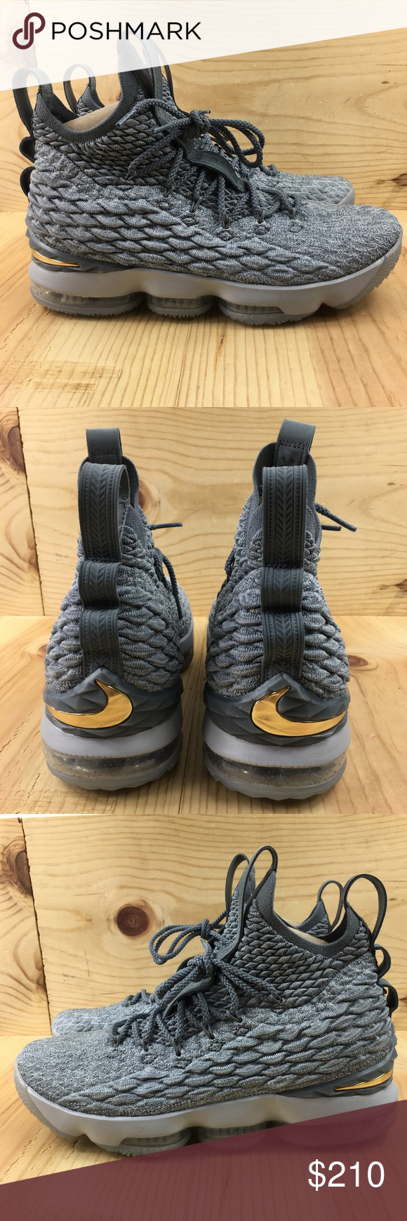 ced0a61c25f Nike Lebron XV Size 9.5 Basketball Shoes Mens Gray Nike Lebron XV Size 9.5  Basketball Shoes Mens Gray Metallic Gold Brand New without Box Product  code  ...