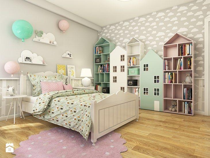 Dom w Opolu - Duży pokój dziecka dla dziewczynki dla malucha, styl