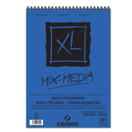 Canson Xl Series Mix Media Pad Canson Xl Mix Media Spiral Bound 30s A4 300g Buy Online In South