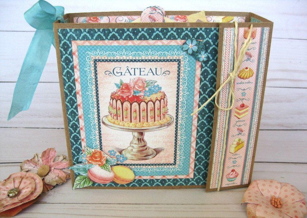 Premade Scrapbook Album Graphic 45 Parisian Cafe Scrapbook Paris