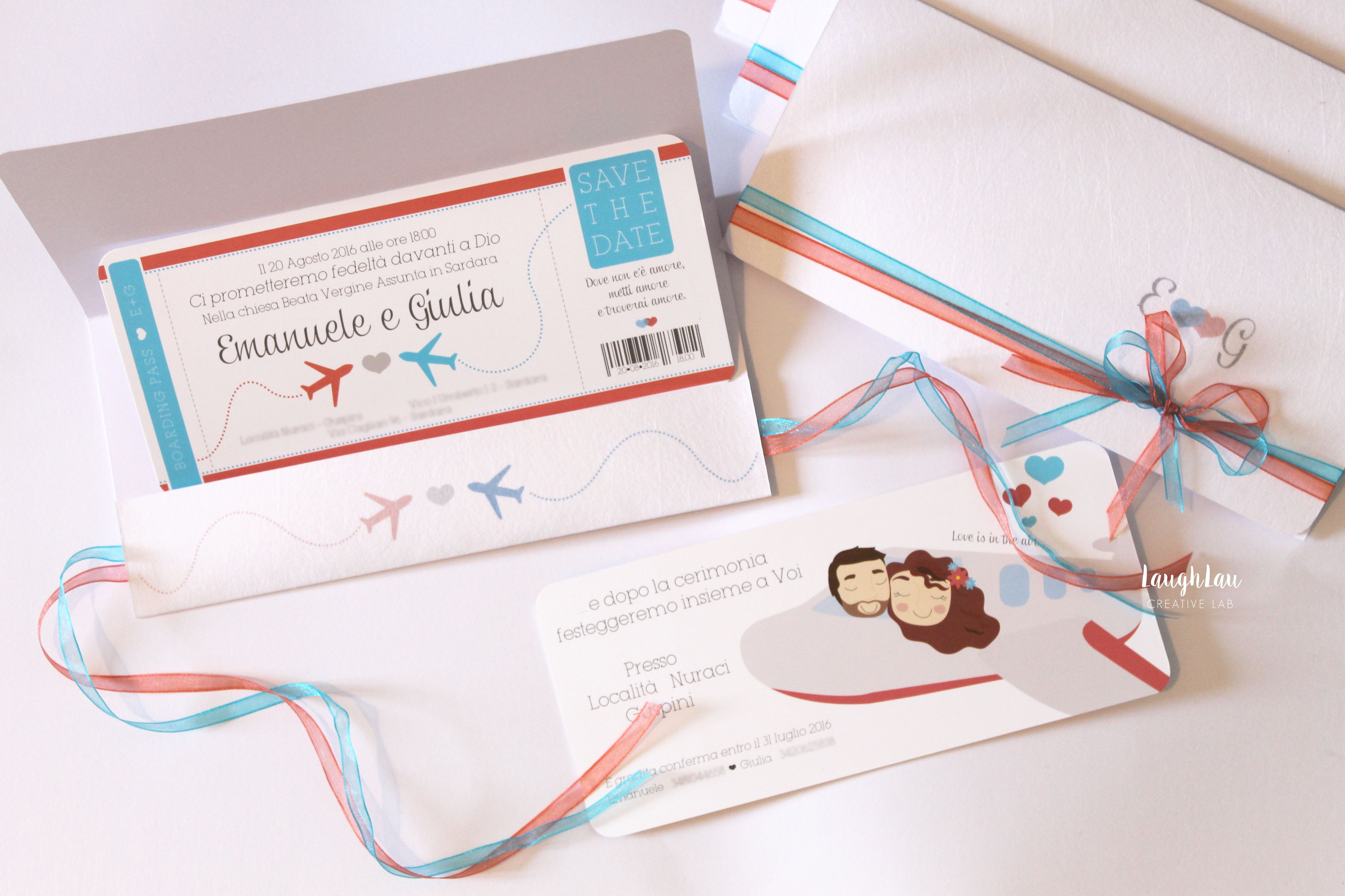 Wedding invitation, Travel theme Coral and Turquoise Boarding Pass ...