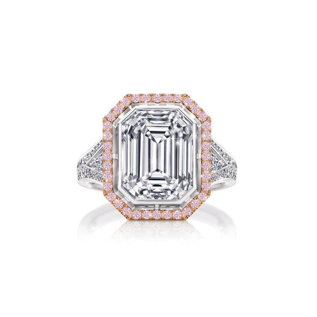 Arinna White And Argyle Pink Diamond Ring With Images Pink