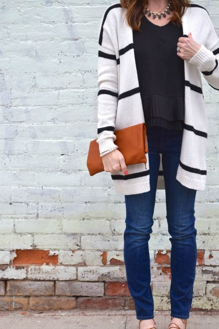 How To Wear A Black and White Striped Sweater with Jeans | Lofts ...