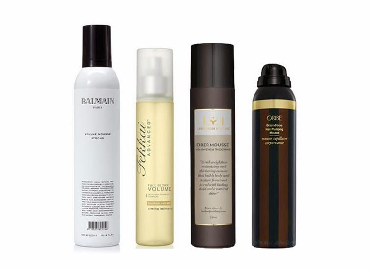 Hair care products. Balmain. Fekkai. Lernberger. Oribe mousse.