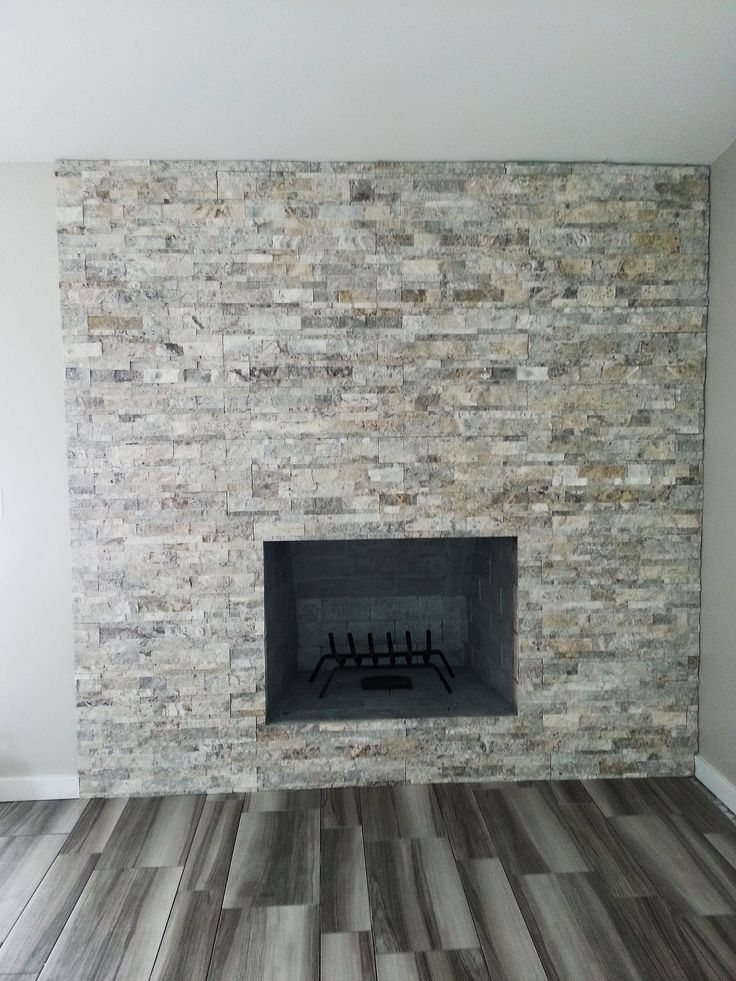 Silver Travertine Ledgestone Google Search Fireplace Remodel Diy