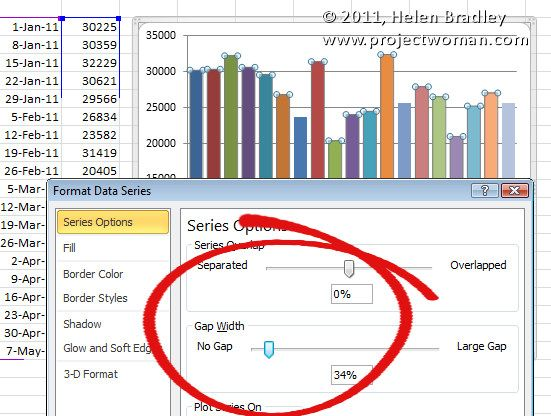 Help My Excel Chart Columns Are Too Skinny Make Charts Chart Bar Chart