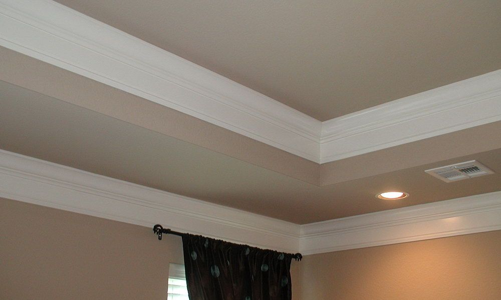 Tray Ceiling Crown Molding Bedroom Pinterest Tray