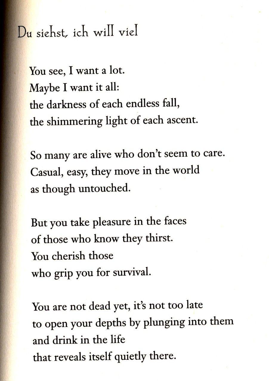 i wish i was a lark — One of my favorite Rilke poems. It ...