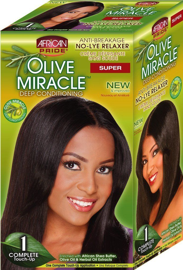 African Pride Olive Miracle Deep Conditioning No Lye Relaxer Super