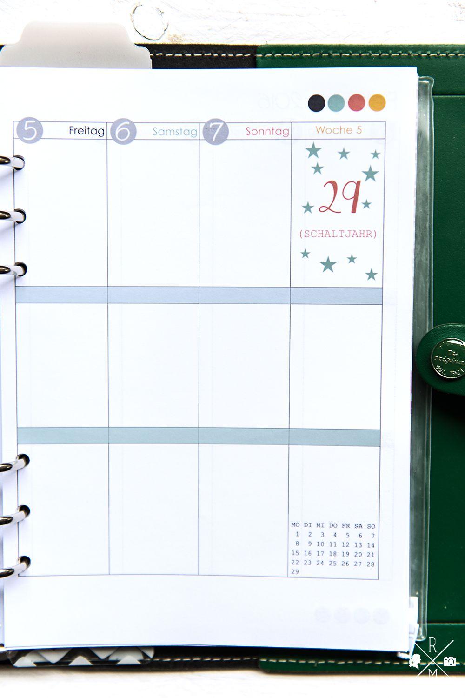 die besten 25 wochenkalender selbst gestalten ideen auf pinterest filofax notizbuch bullet. Black Bedroom Furniture Sets. Home Design Ideas