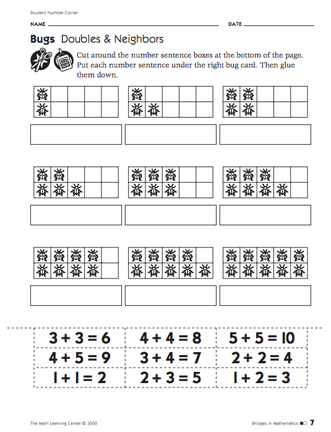 Heres A Lesson And Activity For Working On Doubles And Neighbors