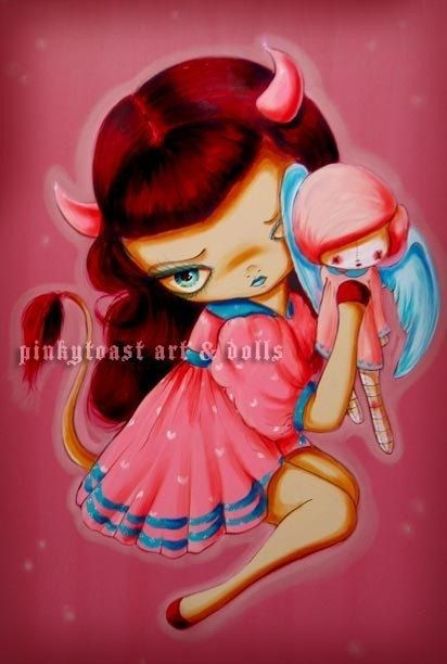 Big Eyed Betty PageLittle Devil Loves her by pinkytoast on Etsy, $13.00