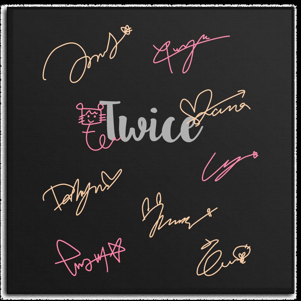 Twice Autograph Tanda Tangan Tanda Artis