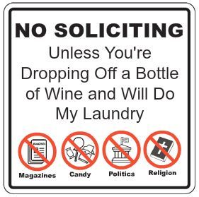 image about Funny No Soliciting Sign Printable identified as humorous no soliciting indicator - no soliciting except youre