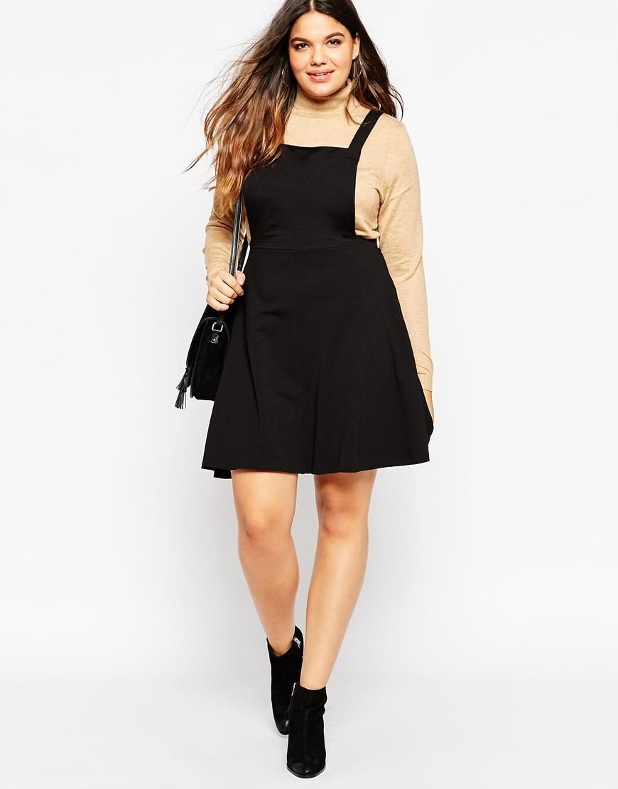 Asos curve asos curve jersey basic pinafore dress at asos my
