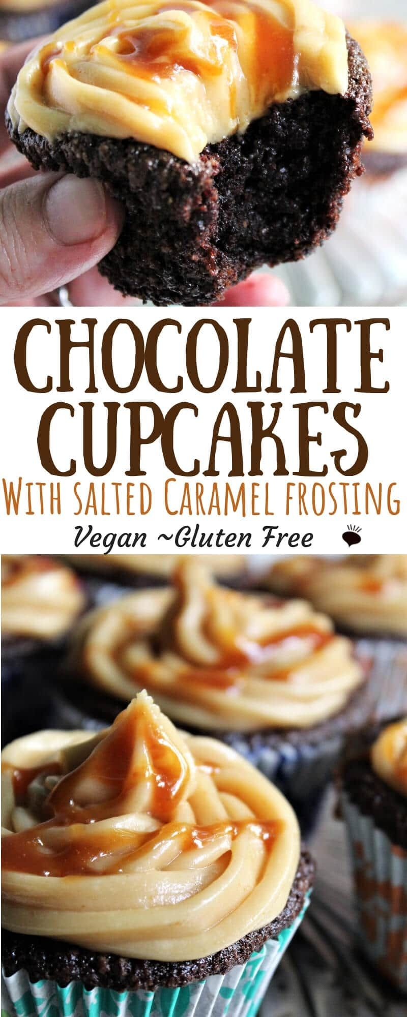 Gluten free vegan chocolate cupcakes that are easy to make with a few simple ingredients and come out moist and delicious every time! All you need is a bowl and a whisk an some basic ingredients and you can make these perfect chocolate cupcakes! #veganchocolatecake #vegancupcakes #glutenfreeveganchocolatecake #easyvegancupcakes #thehiddenveggies #glutenfree