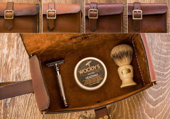 Men s Leather Toiletry Kit, Leather Toiletry Kit, Dopp Kit, Travel ... 20a4fe947b